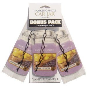 Yankee Candle - Car jar Lemon Lavender bonus pack - 3 szt.