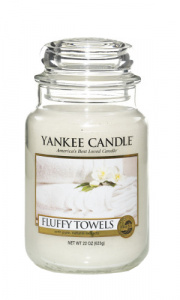 Yankee Candle - Duży słoik Fluffy Towels - 623g
