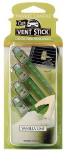 Yankee Candle - Car jar vent stick Vanilla Lime - 1szt.