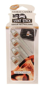 Yankee Candle - Car vent stick French Vanilla - 4 szt.