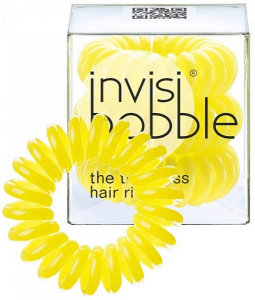 Invisibobble - Gumki do włosów Submarine Yellow - 3szt.