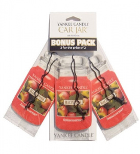 Yankee Candle – Car jar Macintosh bonus pack – 3szt.