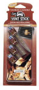 Yankee Candle - Car vent stick Leather - 4 szt.
