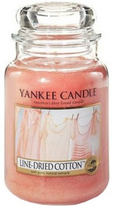 Yankee Candle - Duży słoik Linen Dried Cotton - 623g