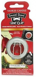 Yankee Candle - Car vent clip Cranberry Pear - 1szt.