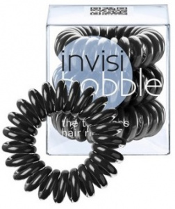Invisibobble - Gumki do włosów True Black - 3szt.