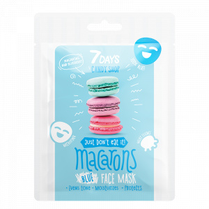 7 Days Candy Shop - Błękitna maska do twarzy Macarons - Makaroniki i Jagody - 25g
