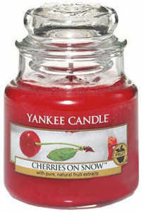 Yankee Candle - Mały słoik Cherries on Snow - 104g