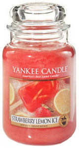 Yankee Candle - Duży słoik Strawberry Lemon Ice - 623g