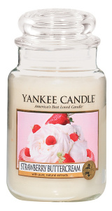 Yankee Candle - Duży słoik Strawberry Buttercream - 623g