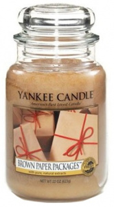 Yankee Candle - Duży słoik Brown Paper Packages - 623g
