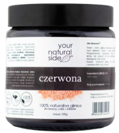 Your Natural Side - Czerwona Glinka Illite - 100 g