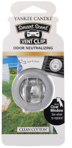Yankee Candle - Car vent clip Clean Cotton - 1szt.