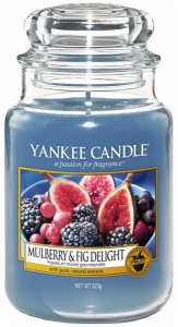 Yankee Candle - Duży słoik Mulberry & Fig Delight - 623g