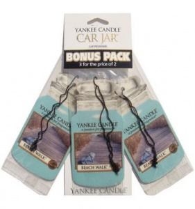 Yankee Candle - Car jar Beach Walk bonus pack - 3 szt.