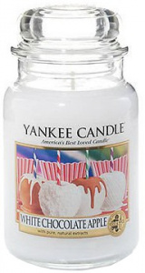 Yankee Candle - Duży słoik White Chocolate Apple - 623g