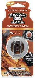 Yankee Candle - Car vent clip Leather - 1szt.