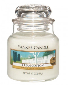 Yankee Candle - Mały słoik Clean Cotton - 104g
