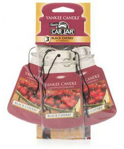 Yankee Candle - Car jar Black Cherry bonus pack - 3 szt.