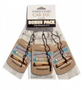 Yankee Candle – Car jar Sun & Sand bonus pack – 3szt.