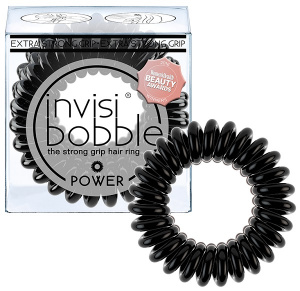 Invisibobble - Gumki do włosów POWER True Black - 3szt.
