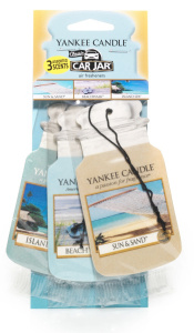 Yankee Candle - Car jar variety pack Beach Vacation - 3 szt.