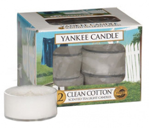 Yankee Candle - Tealight Clean Cotton