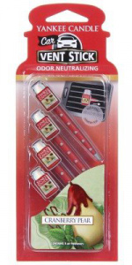 Yankee Candle - Car vent stick Cranberry Pear - 4 szt.