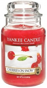 Yankee Candle - Duży słoik Cherries on Snow - 623g