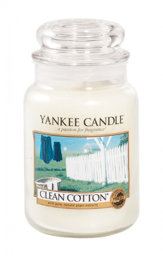 Yankee Candle - Duży słoik Clean Cotton - 623g