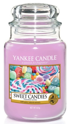 Yankee Candle - Duży słoik Sweet Candies - 623g